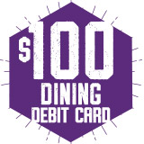 Dining Debit Card: $100 + $20 Bonus Bucks (Students)